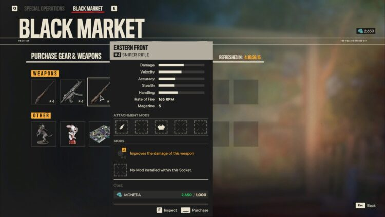 Far Cry 6 Overclocked Weapons Black Market Eastern Front Mosin Nagant Mp5 1887 1